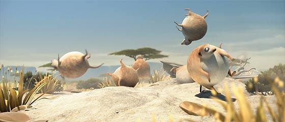 【動画】真ん丸に膨らんだ体と動きがとっても可愛い!日向ぼっこをするミーアキャットを描いた3DCGアニメーション『 ROLLIN' SAFARI – 'Meerkats' 』