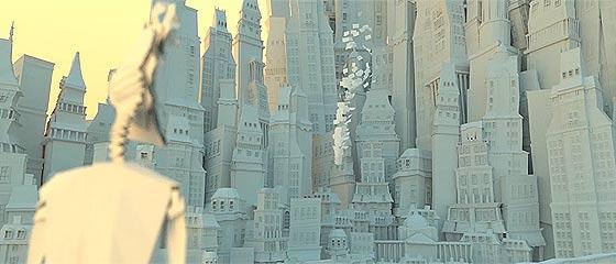 【3D】捨てられて行ってしまう儚い運命であるミスプリントの紙で作られた世界で、淡い恋に落ちる2人を描いた切ない3DCGアニメーション『 11 Paper Place 』【動画】