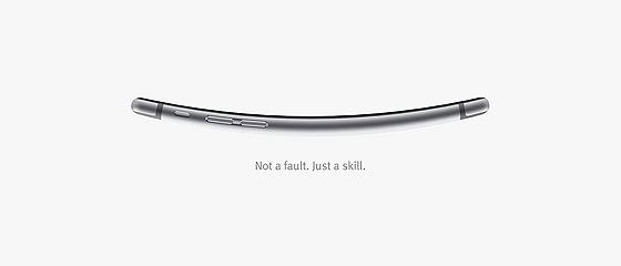 iPhone6曲がり過ぎ!!!! …という事をネタにした、ヨガスタジオのとってもクリエイティブなポスター広告