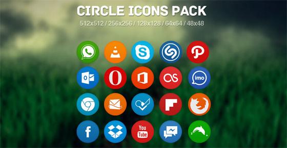 フラットデザインに似合うSNSアイコンなどが配布中 『35 Beautiful Free Flat Icons Sets that You can Use』1