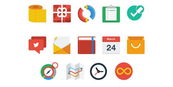 フラットデザインに似合うSNSアイコンなどが配布中 『35 Beautiful Free Flat Icons Sets that You can Use』10