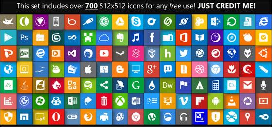フラットデザインに似合うSNSアイコンなどが配布中 『35 Beautiful Free Flat Icons Sets that You can Use』12