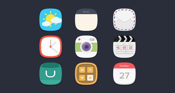 フラットデザインに似合うSNSアイコンなどが配布中 『35 Beautiful Free Flat Icons Sets that You can Use』13