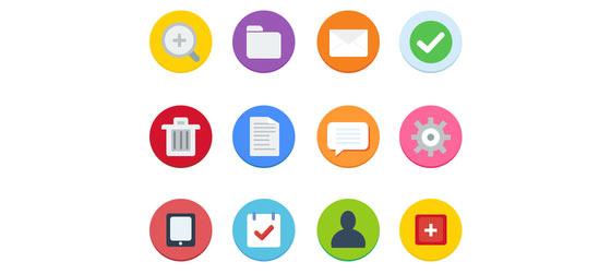 フラットデザインに似合うSNSアイコンなどが配布中 『35 Beautiful Free Flat Icons Sets that You can Use』15