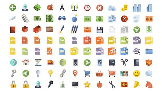 フラットデザインに似合うSNSアイコンなどが配布中 『35 Beautiful Free Flat Icons Sets that You can Use』18