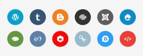 フラットデザインに似合うSNSアイコンなどが配布中 『35 Beautiful Free Flat Icons Sets that You can Use』19
