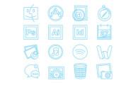 フラットデザインに似合うSNSアイコンなどが配布中 『35 Beautiful Free Flat Icons Sets that You can Use』20