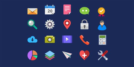 フラットデザインに似合うSNSアイコンなどが配布中 『35 Beautiful Free Flat Icons Sets that You can Use』24