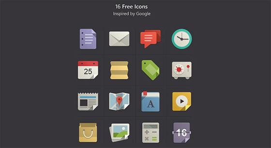 フラットデザインに似合うSNSアイコンなどが配布中 『35 Beautiful Free Flat Icons Sets that You can Use』25