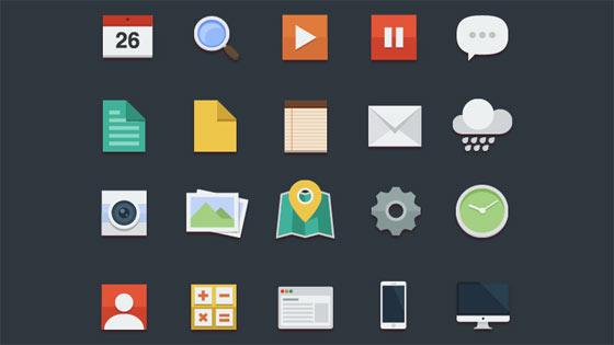 フラットデザインに似合うSNSアイコンなどが配布中 『35 Beautiful Free Flat Icons Sets that You can Use』28