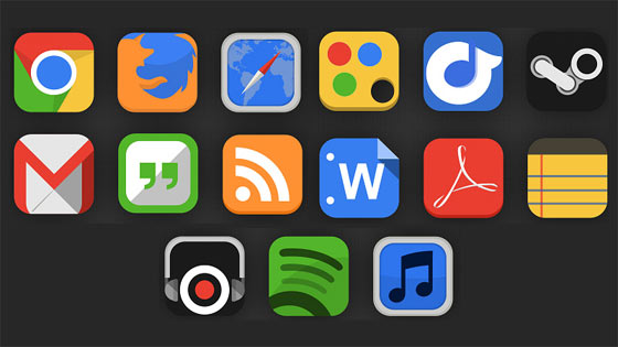 フラットデザインに似合うSNSアイコンなどが配布中 『35 Beautiful Free Flat Icons Sets that You can Use』29