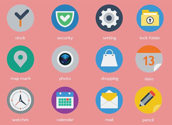 フラットデザインに似合うSNSアイコンなどが配布中 『35 Beautiful Free Flat Icons Sets that You can Use』3