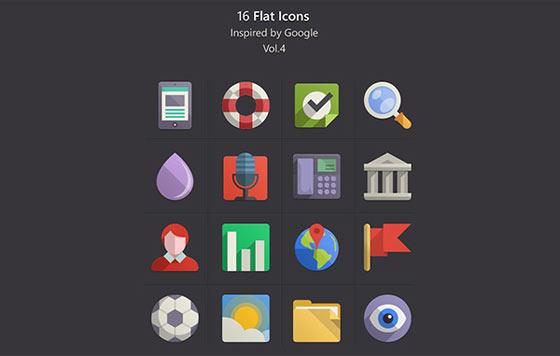 フラットデザインに似合うSNSアイコンなどが配布中 『35 Beautiful Free Flat Icons Sets that You can Use』30