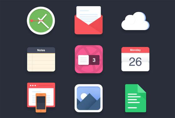 フラットデザインに似合うSNSアイコンなどが配布中 『35 Beautiful Free Flat Icons Sets that You can Use』31