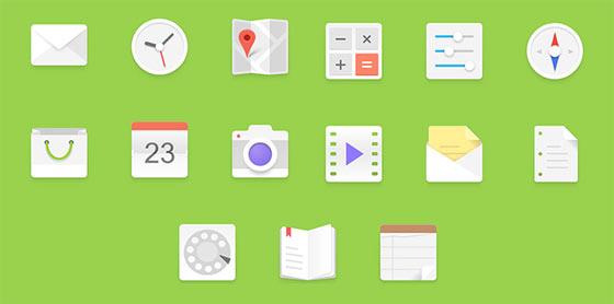 フラットデザインに似合うSNSアイコンなどが配布中 『35 Beautiful Free Flat Icons Sets that You can Use』32