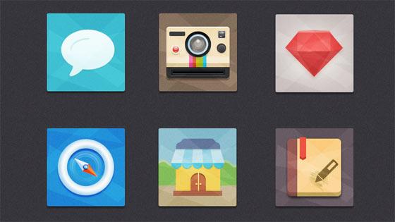 フラットデザインに似合うSNSアイコンなどが配布中 『35 Beautiful Free Flat Icons Sets that You can Use』34