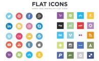 フラットデザインに似合うSNSアイコンなどが配布中 『35 Beautiful Free Flat Icons Sets that You can Use』4