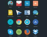 フラットデザインに似合うSNSアイコンなどが配布中 『35 Beautiful Free Flat Icons Sets that You can Use』5