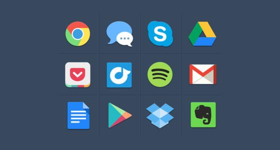 フラットデザインに似合うSNSアイコンなどが配布中 『35 Beautiful Free Flat Icons Sets that You can Use』8