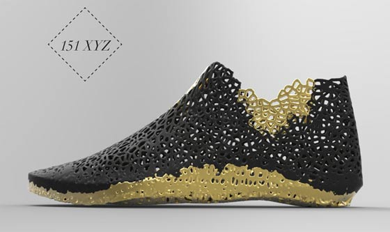 3Dプリンターで形作る靴2