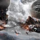 【動画】Photoshopの編集テクニックが素晴らしい!激しい砲撃戦を行う2隻の飛行船のアートワークを描く過程のタイムラプス動画