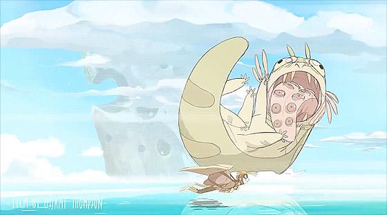 海の魔物から逃げつつ山の上の宝を目指す、もの凄いスピード感のあるアニメーション『 Basilisk 』3