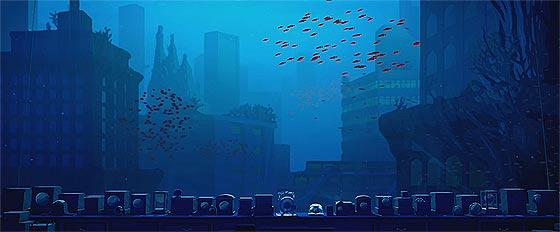 潮が満ちると海に沈んでしまう遺跡で、時計を集める男性と少女が出会う不思議な物語『 Contre temps 』1