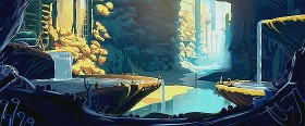 潮が満ちると海に沈んでしまう遺跡で、時計を集める男性と少女が出会う不思議な物語『 Contre temps 』2