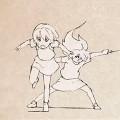 【動画】2人の可愛い少女が殴る!蹴る!迫力満点の色んな技を繰り出す自主制作アニメーション『 DOOPPEL! 』が面白い