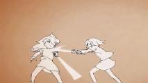 2人の可愛い少女が殴る!蹴る!迫力満点の色んな技を繰り出す自主制作アニメーション『 DOOPPEL! 』が面白い2