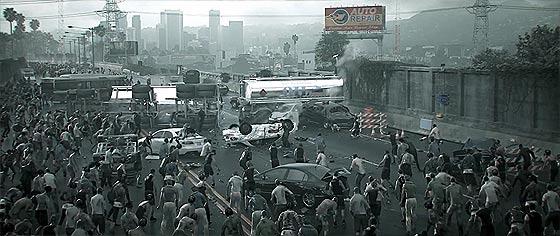 四方八方から襲い来るゾンビの大軍をロードローラーでひき潰す、Xbox One用アクションゲーム『 Dead Rising 3 』予告映像4