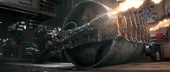 四方八方から襲い来るゾンビの大軍をロードローラーでひき潰す、Xbox One用アクションゲーム『 Dead Rising 3 』予告映像6