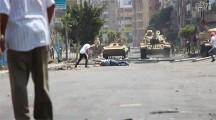 酷い様相を呈してきたエジプト政府治安部隊による、デモを行う無抵抗の市民への発砲