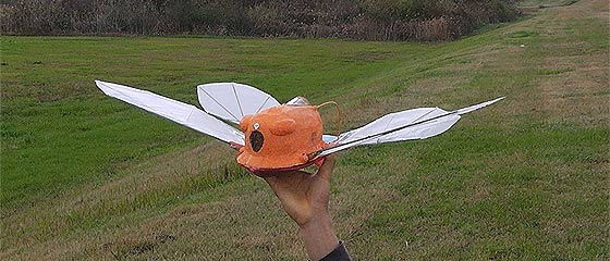 【動画】天空の城ラピュタにも出てきたオーニソプター『フラップター』の、空を自由に飛び回るラジコンモデル映像