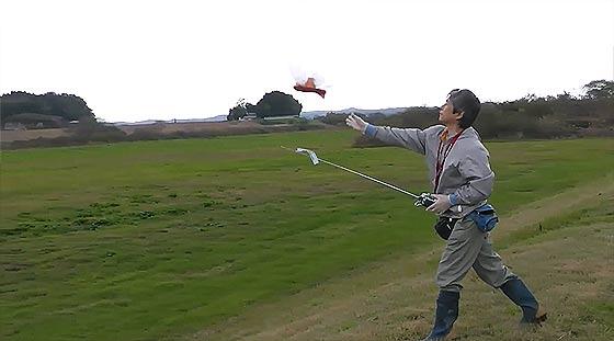 天空の城ラピュタにも出てきたオーニソプター『フラップター』の、空飛ぶラジコンモデル映像4