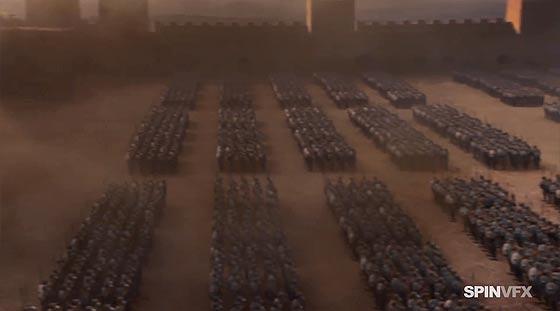 テレビドラマ『 Game of Thrones season 3 』のデジタル処理の凄さがよく分かるデモ動画3