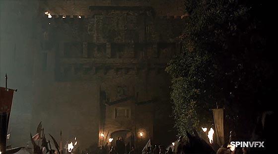 テレビドラマ『 Game of Thrones season 3 』のデジタル処理の凄さがよく分かるデモ動画6