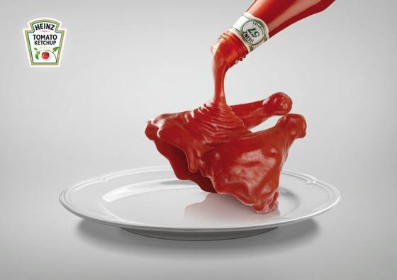 HEINZのケチャップが無ければ、料理は存在しないも同然?!という驚く表現のポスター広告1