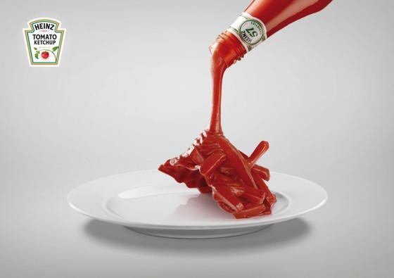 HEINZのケチャップが無ければ、料理は存在しないも同然?!という驚く表現のポスター広告2