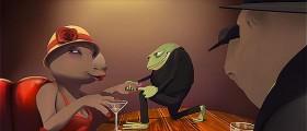 サイとカエルの2大ギャングの抗争を、ジャズの音色と共に送る3DCGアニメーション『 Omerta 』3