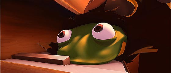 サイとカエルの2大ギャングの抗争を、ジャズの音色と共に送る3DCGアニメーション『 Omerta 』4