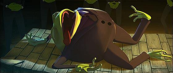 サイとカエルの2大ギャングの抗争を、ジャズの音色と共に送る3DCGアニメーション『 Omerta 』5