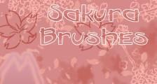 桜の花や花びらを表現したPhotoshopブラシ素材『25 Delicate-Looking Cherry Blossom Brushes』6