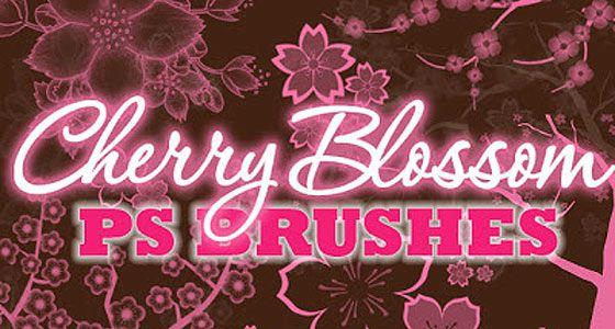 桜の花や花びらを表現したPhotoshopブラシ素材『25 Delicate-Looking Cherry Blossom Brushes』7
