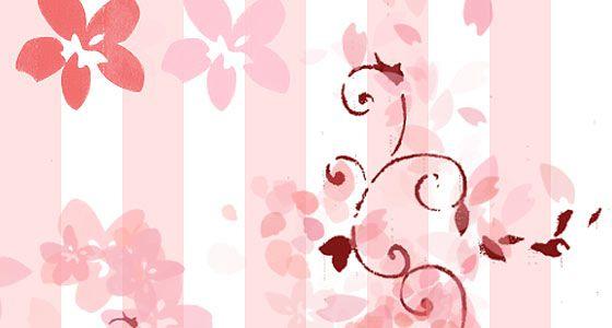 桜の花や花びらを表現したPhotoshopブラシ素材『25 Delicate-Looking Cherry Blossom Brushes』8