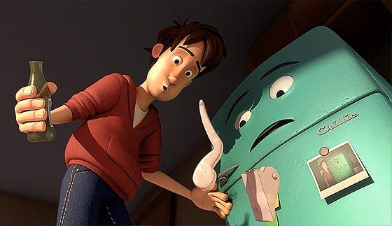 少年と古びた冷蔵庫の心温まる交流を描いた3DCGアニメーション『 Runaway 』2