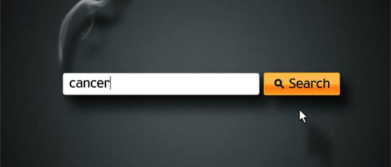 ウェブサイトの検索窓を上手く使った、禁煙を促すクリエイティブな啓蒙ポスター広告
