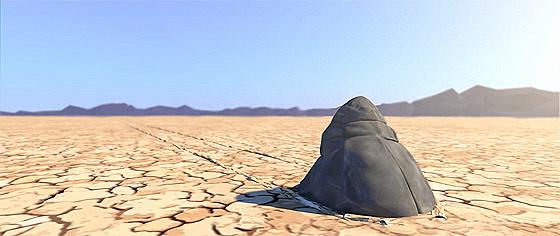 デスバレーの動く石の正体はこれだった?!3DCGアニメーションで描くデスバレーの動く石の謎『 Sailing Stones 』1