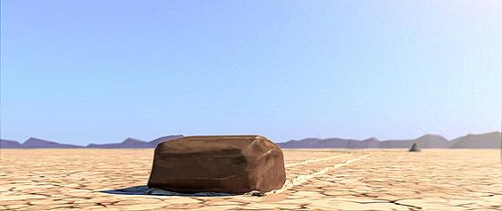 デスバレーの動く石の正体はこれだった?!3DCGアニメーションで描くデスバレーの動く石の謎『 Sailing Stones 』2
