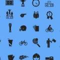 【素材】スポーツに関する単色でシンプルなアイコン素材100種類が配布されています